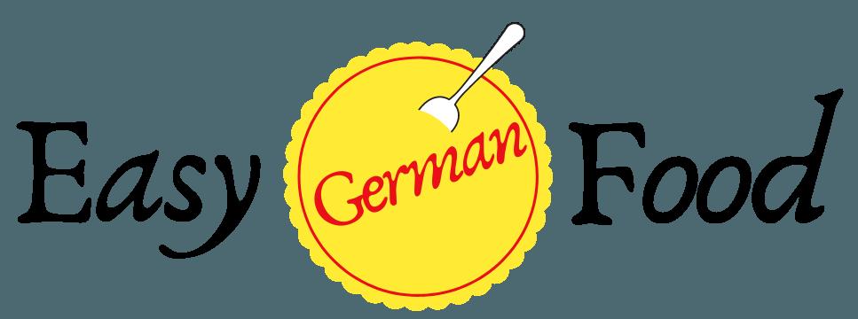 Easy German food logo längs